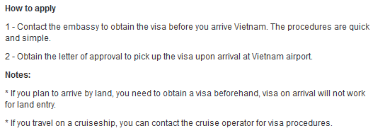 Vietnam Visa Requirements for somalia citizens